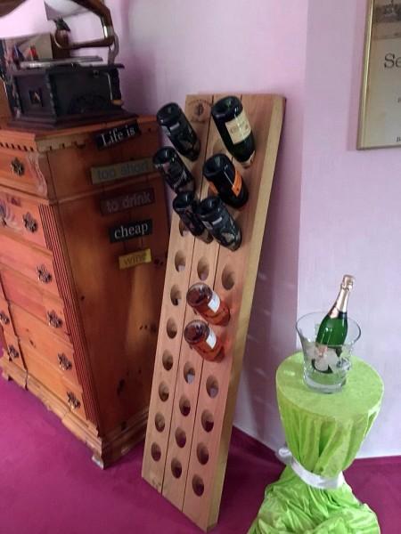 """30er Champagner Rüttelbrett mit exklusivem Brand-Stempel """"Blondel"""""""